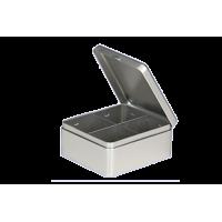 Metalinė dėžutė - 4 skyrelių