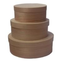 Apvali medinė dėžutė 0049455
